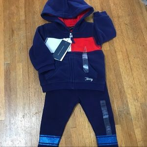 NWT, Tommy Hilfiger hoodie and pants, 6-9 m